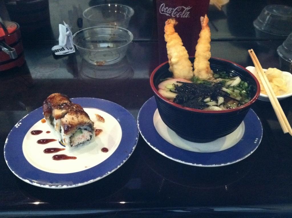 Nigiri and Shrimp Udon