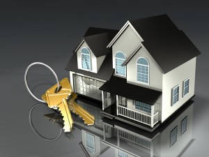 House and keys real estate